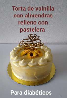 Torta de almendras PARA DIABETICOS Y CELIACOS