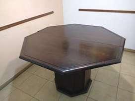 Mesa de cedro octogonal extensible