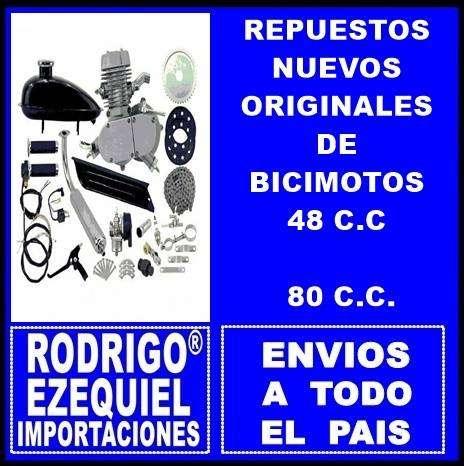 REPUESTOS ORIGINALES NUEVOS DE BICIMOTOS 48 C.C / 80 C.C IMPORTADOS 0