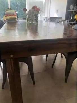 Vendo mesa madera quincho 3x1.20