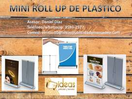 MINI ROLL UP DE PLASTICO