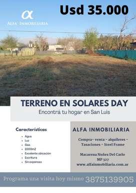 Hermoso terreno en Solares Day! Salta