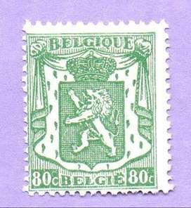 SELLO N° 713A DE BÉLGICA