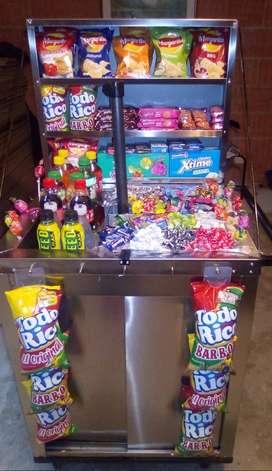 Chaza o carrito venta de dulces