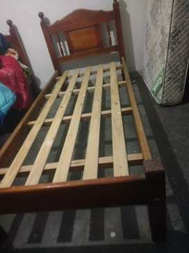 Camas 1 plaza de madera de pino