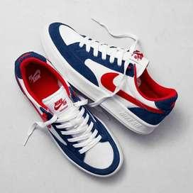 Zapatos nike SB talla 40 al 44 blanco con azul pidelos