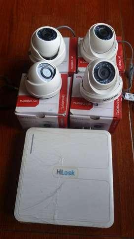 DVR hilook y 4 cámaras.