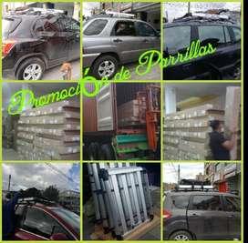 Parrillas Nuevas en Aluminio  Aerorack,  para carros.