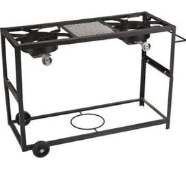 Outdoor Gourmet Double Burner Fry Cart