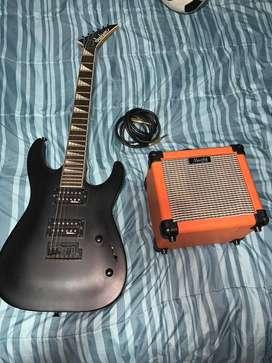 Guitarra Eléctrica Jackson Dinky S22 con Amplificador Mugig