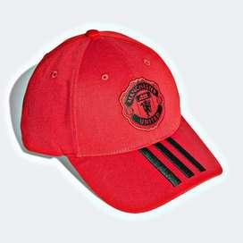 gorra adidas manchester united roja original
