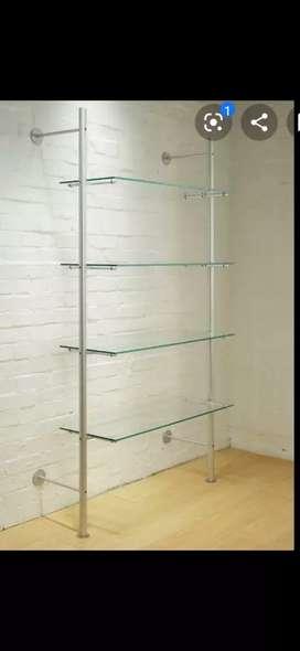 3 estantes de vidrio bajo costo
