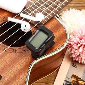 Afinador cromático para guitarra, bajo, ukelele y violín.