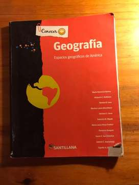Libro Geografía. Conocer más SANTILLANA