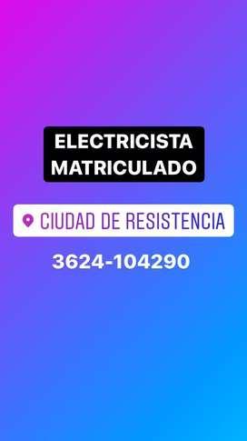 Electricidta Matriculado. Servicio 24 hs