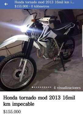 Honda tornado mod 2013 16mil km $155000