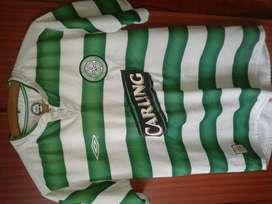 Camiseta Celtic FC Original Umbro 2002 2003 Liga y  UCL Talle S/M.
