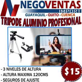 TRIPODE ALUMNIO PROFESIONAL DE 120CMS EN DESCUENTO EXCLUSIVO DE NEGOVENTAS