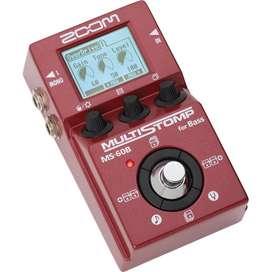 Pedal Zoom MS-60B Music Box Colombia Multiefectos Bajo Electrico