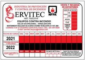 SUMINISTRO-RECARGA Y MANTENIMIENTO DE EXTINTORES