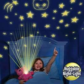 Oso de peluche con proyector de estrellas
