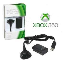 Carga Y Juega 360 Kit Combo Cargador Pila Recargable Para Xbox 360