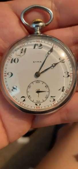 Reloj de bolsillo antiguo marca cyma