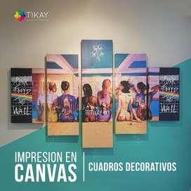 Cuadros Decorativos en  CANVAS, cuadros personalizados, fabricamos cuadros en canvas de algodón de gran calidad.