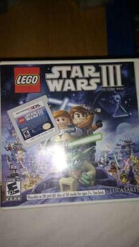 LEGO Star Wars 3 Nintendo 3DS como nuevo en caja-