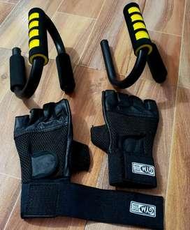Push para flexión de pecho + guantes