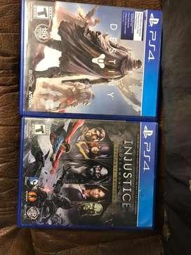 EN VENTA!! Videojuego Destiny y Injustice para Ps4