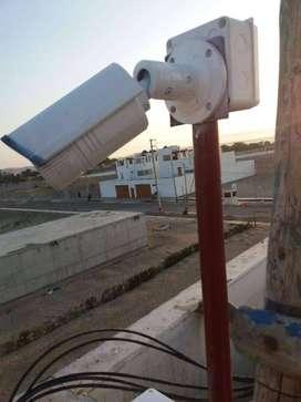 Instalación de cámaras de seguridad, alarmas, cerco eléctrico, sistema contra incendio.