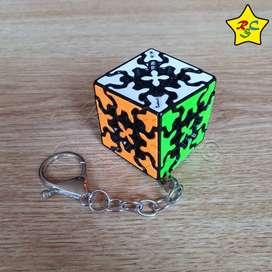 Gear Cube 3x3 Llavero Cubo Rubik Qiyi Engranajes 3.5 Cm