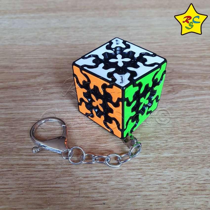 Gear Cube 3x3 Llavero Cubo Rubik Qiyi Engranajes 3.5 Cm 0