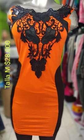 Vestido Naranjado Talla M