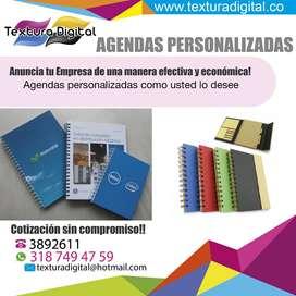 agendas personalizadas, agendas empresariales, agendas publicitarias, agendas medellin, agendas, promocionales, libretas