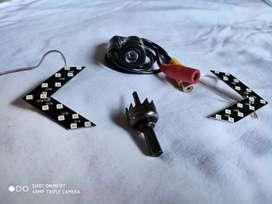 Cámara rever más direccionales led invisibles espejo retrovisor