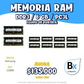 MEMORIA RAM DDR3 8GB PC3L PORTATIL