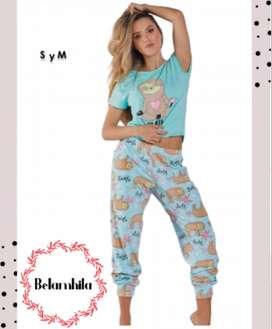 Pijama Dama Ropa Sexi Mujer Panty Dormir *pantalon + Blusa*