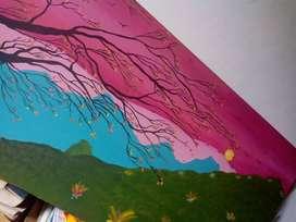 Cuadros pintados a mano listos para colgar