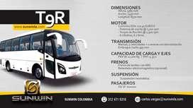Autobus Nuevo Marca SUNWIN, Diesel Euro5 , 33-37 pasajeros,tipo Servicio Especial o Intermunicipal