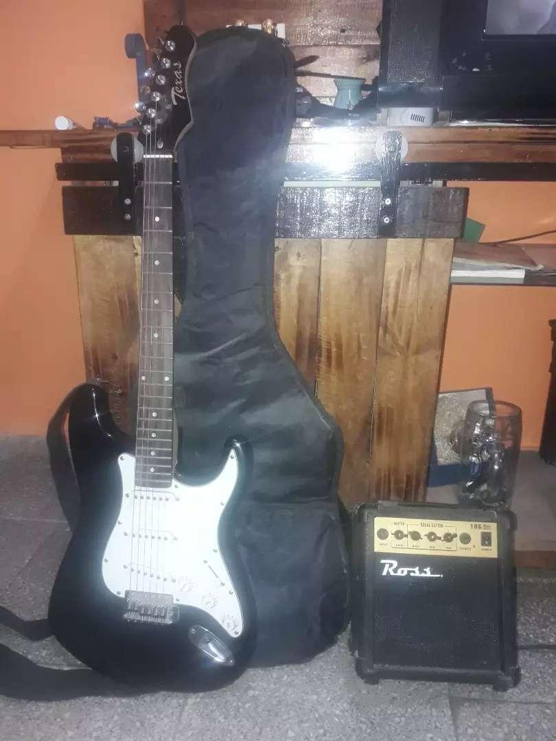 Guitarra +funda+correa+amplificador 0