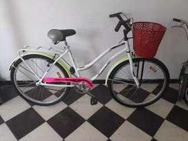 Bicicleta dama tomaselli city rod 26