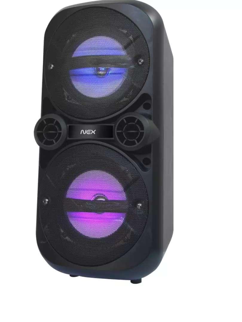 Parlante Nex Karaoke 5'' Luces Micrófono, Radio FM, Usb