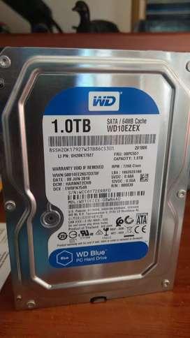 Disco duro 1 TERA pc Westerdigital 7200 rpm