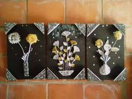 Dia de la Madre,cuadros sobre relieve hechas a mano