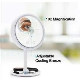 Espejo con luz LED  redondo ventilador