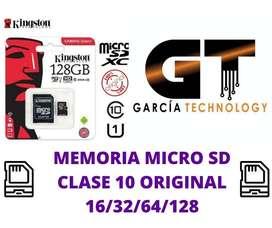 MEMORIA MICRO SD CLASE 10 ORIGINAL 16/32/64/128