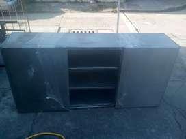 Alacena de Cocina y lavaplatos en Acero con una hornilla fritador para Negocio