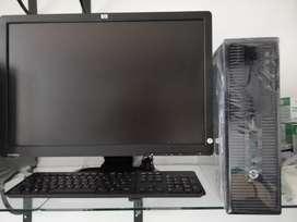 Oferta hp core i3 de 2 generación con monitor 19garantía 6 meses
